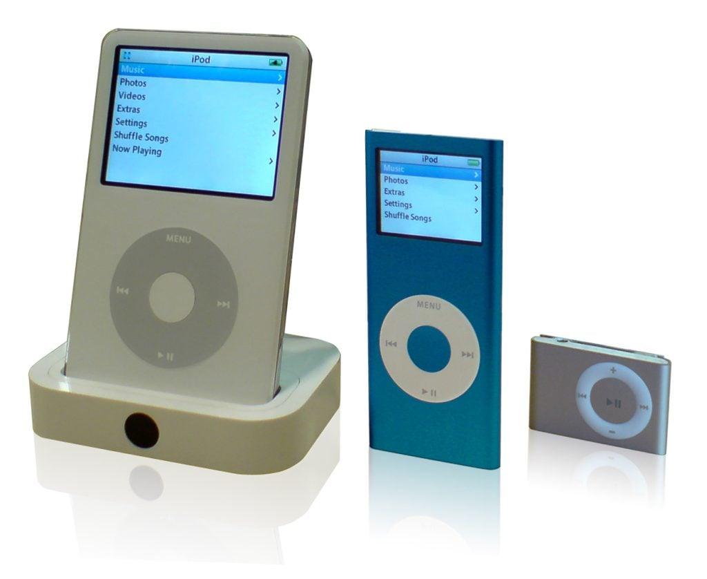 Ipod tecnologias antigas