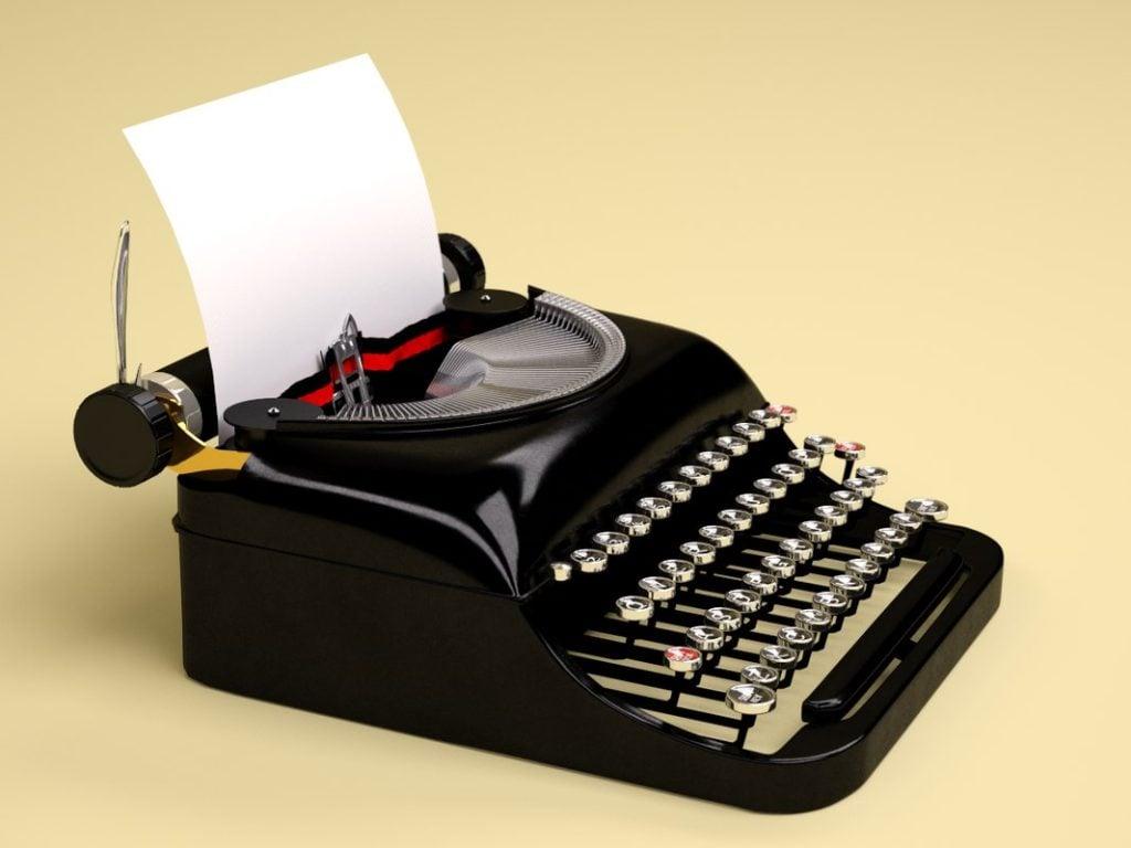 Máquina de datilografar tecnologias antigas