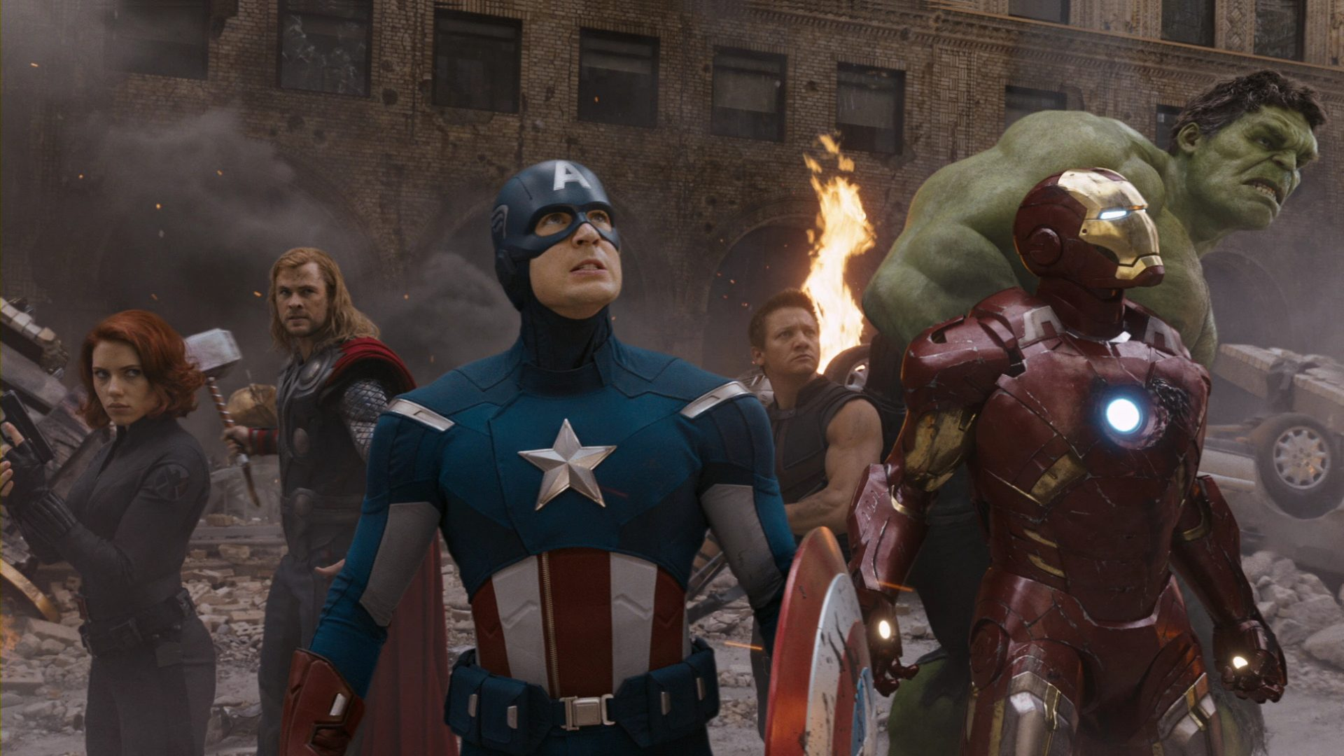 The avengers assemble in new york