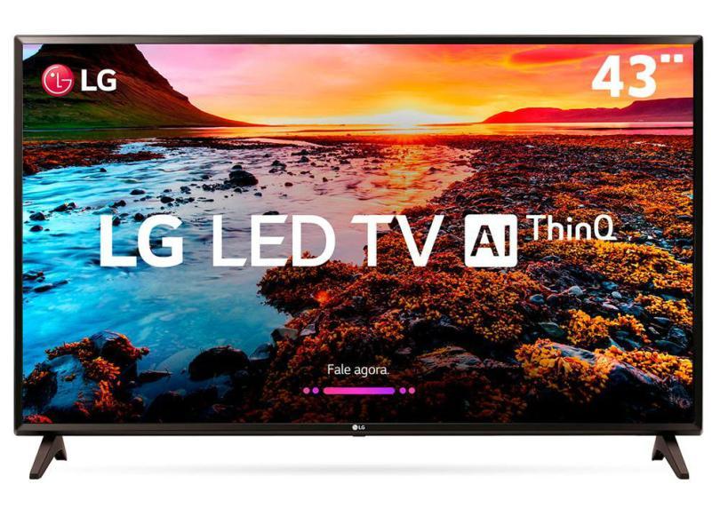 Smart TVs mais buscadas de julho - Smart TV LED 43 LG ThinQ AI Full HD HDR 43LK5750PSA
