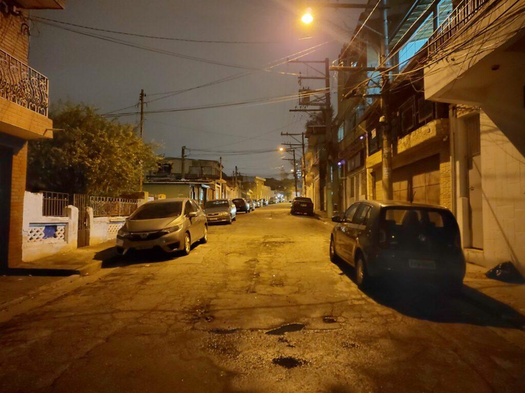 Foto tirada com o Modo Noturno ativado