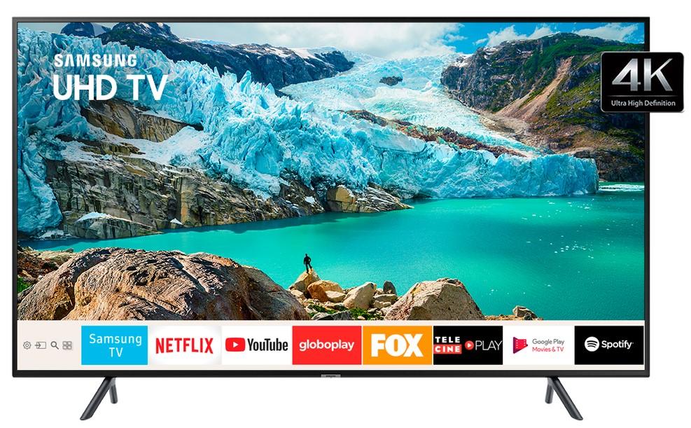Smart TVs mais buscadas de julho - Smart TV LED 50 Samsung 4K HDR 50RU7100 3 HDMI