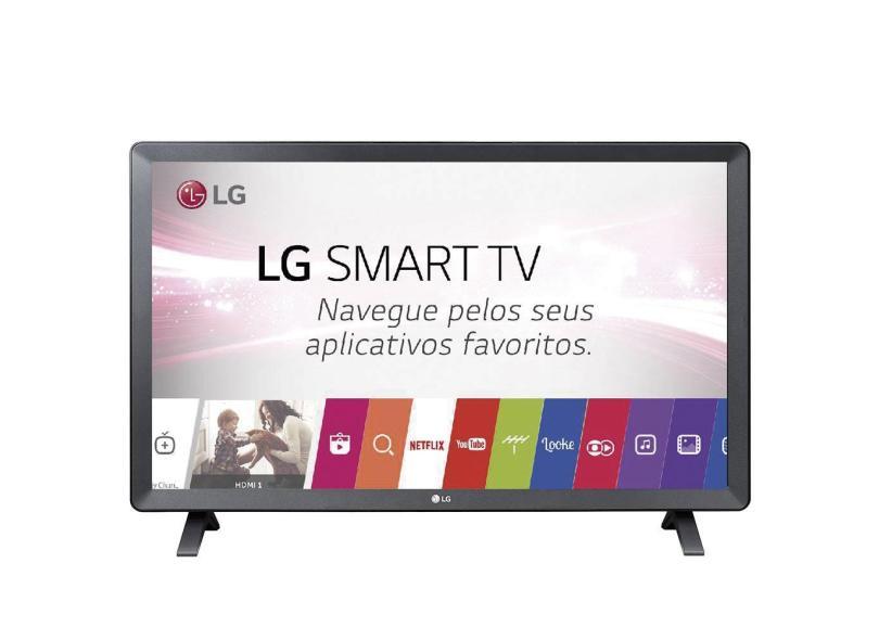 Smart TVs mais buscadas de julho - Smart TV LED 23,6 LG 24TL520S 2 HDMI USB