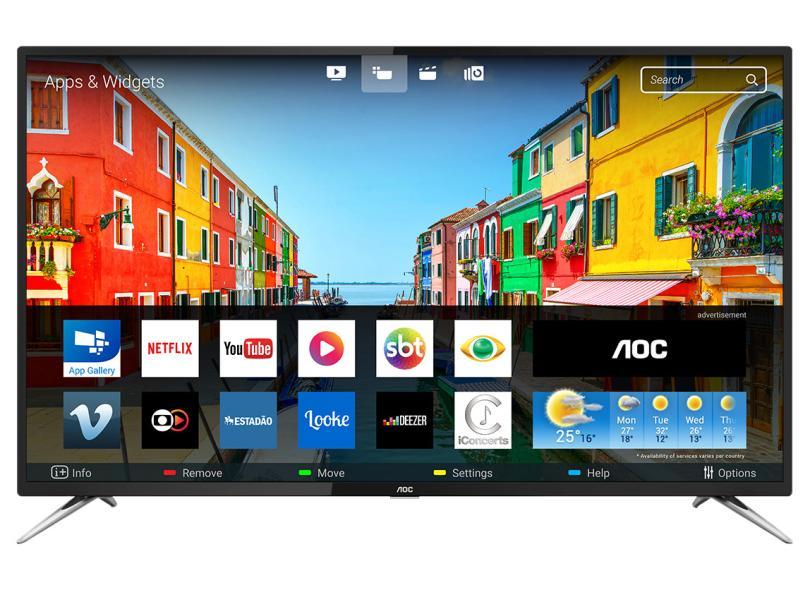Smart TVs mais buscadas de julho - Smart TV LED 50 AOC 4K LE50U7970S 4 HDMI