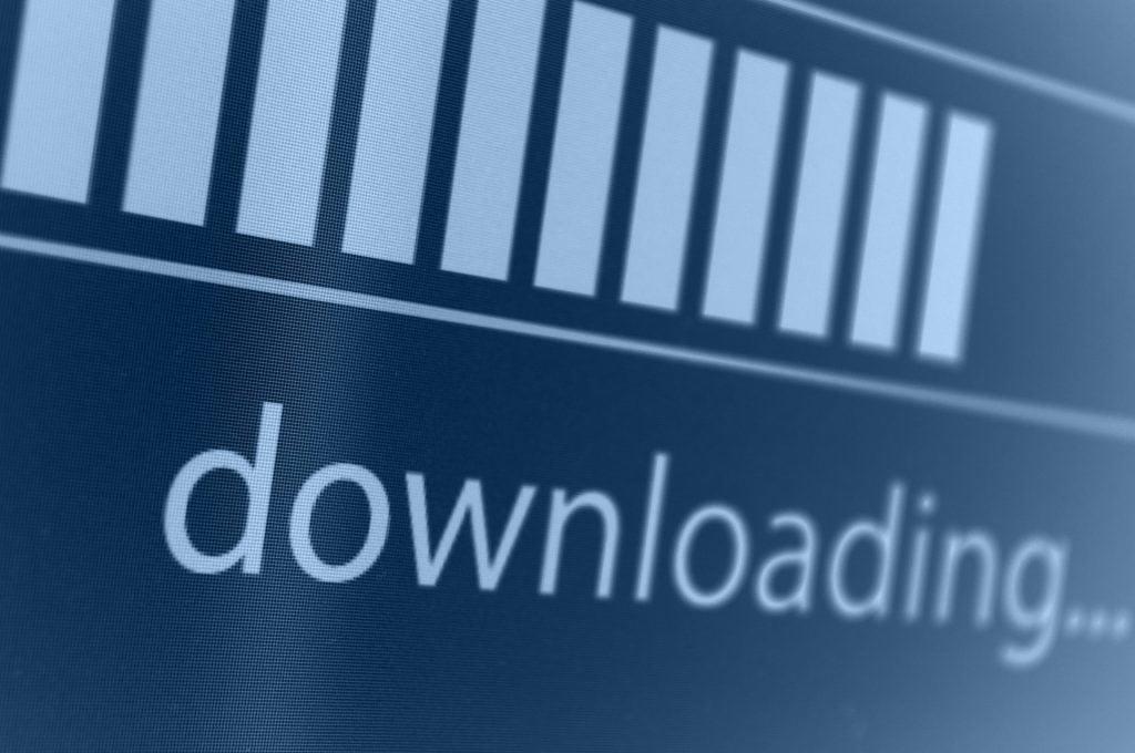 Pause todos os downloads e qualquer programa em segundo plano que use internet