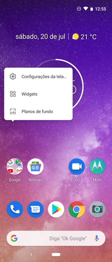 Personalizar Tela inicial do Motorola One Vision