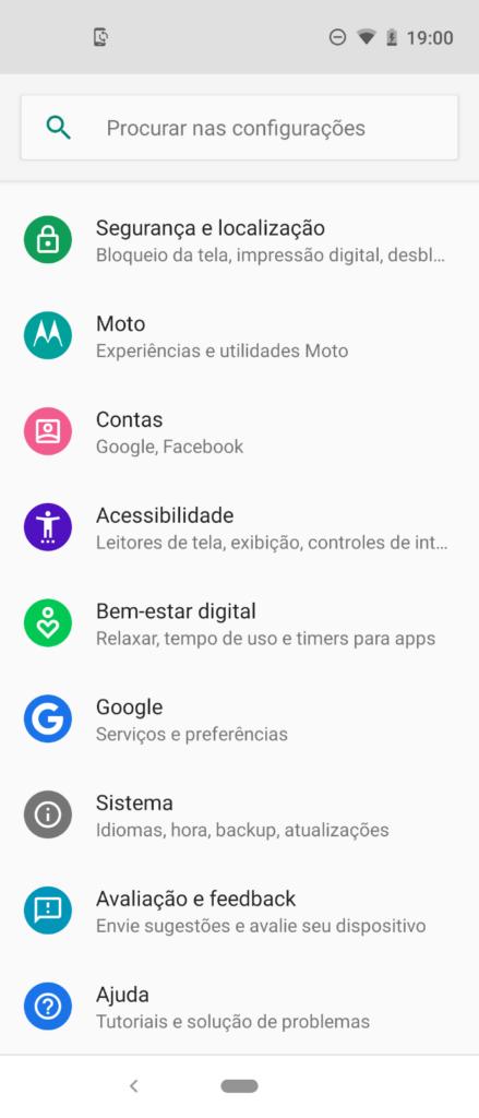 Definir cores do Motorola Moto One Vision