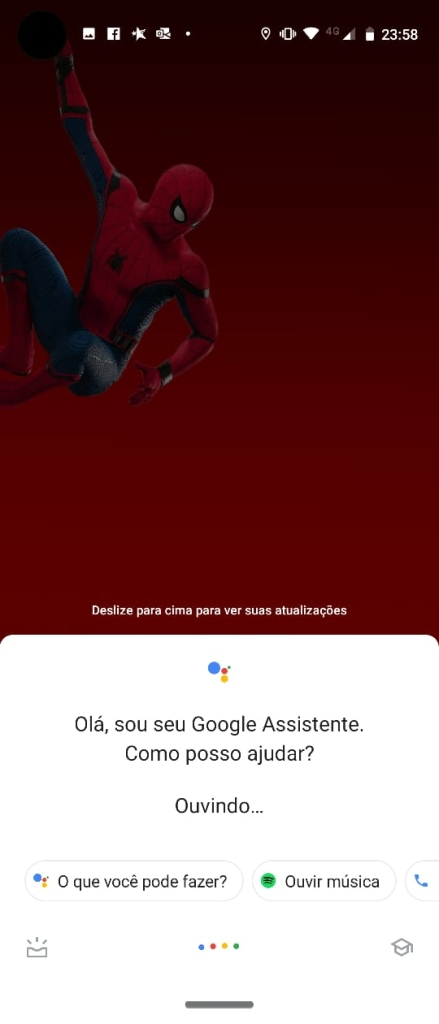 google assistente no moto vision
