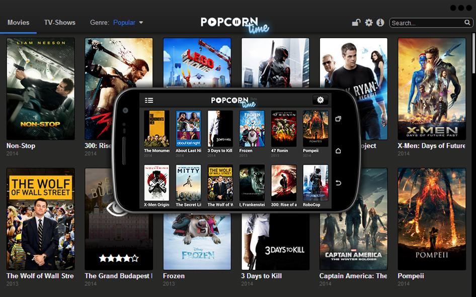 Seja no seu computador ou smartphone, o Popcorn era acessível de diversas plataformas