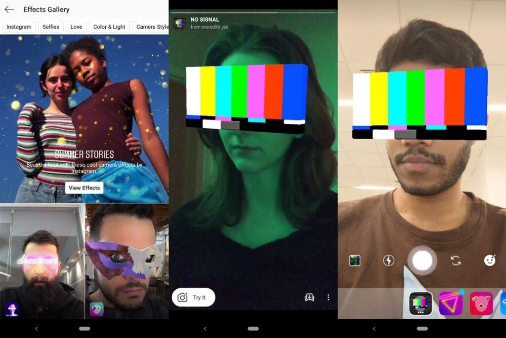 O usuário pode criar filtros 2D e 3D para subir no Facebook e Instagram