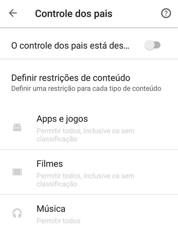 Restrições na plataforma de apps do smartphone
