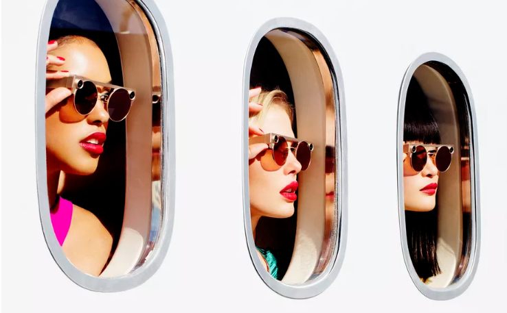 O Spectacles 3 inclui câmeras HD duplas para capturar cenários de forma 3D e introduzir efeitos do Snapchat