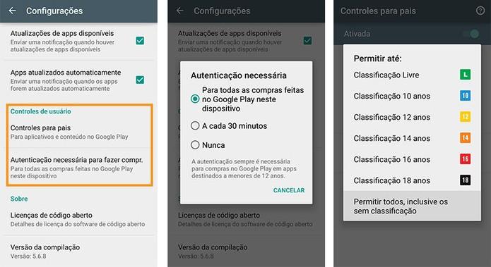 Controle para pais também faz com que os pais tenham que validar compras no Google Play