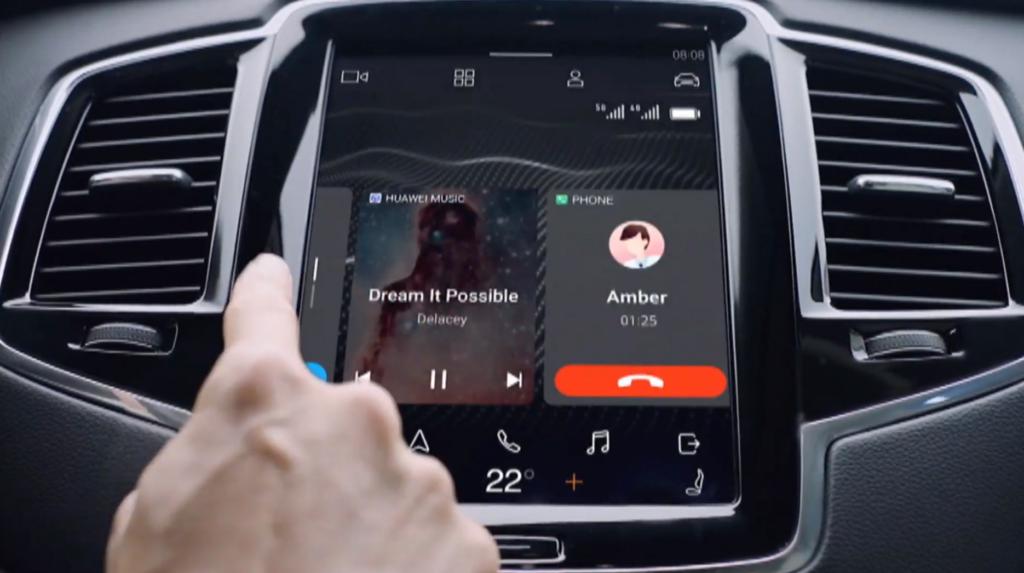 Com o Huawei Hi Car, as funções dos smartphones são integradas com as telas do carro