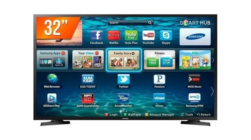 Sétimo lugar na nossa lista de Smart TVs vai para um modelo comercial