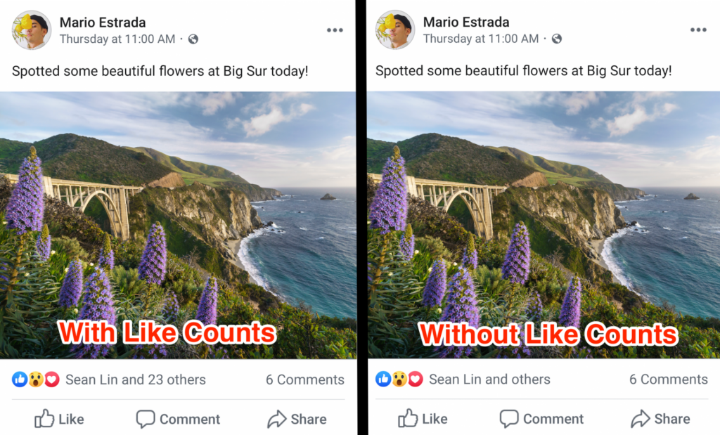 Na austrália, o facebook passou a esconder o número de curtidas em publicações