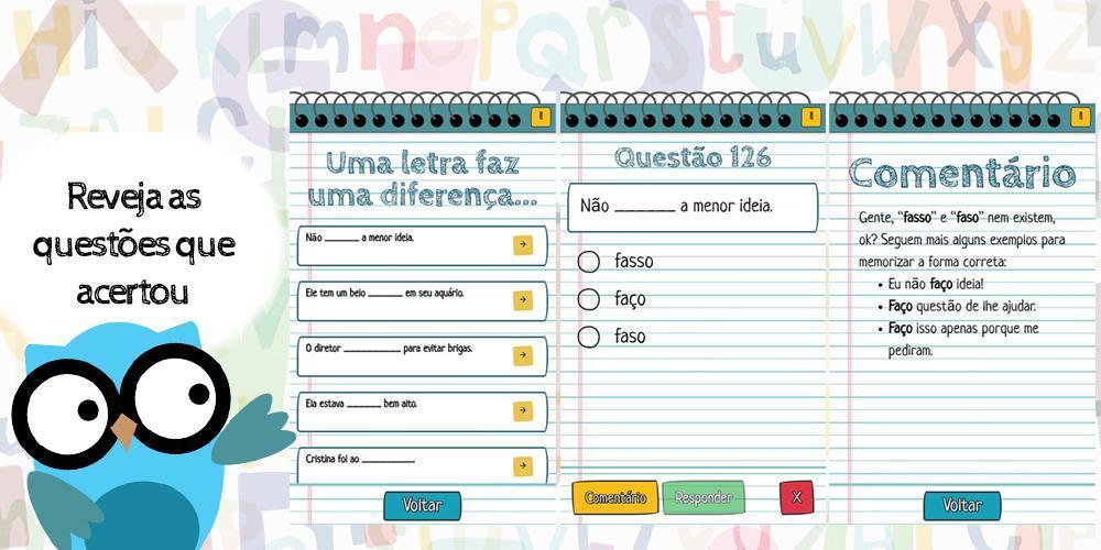 Melhores app - português coruja