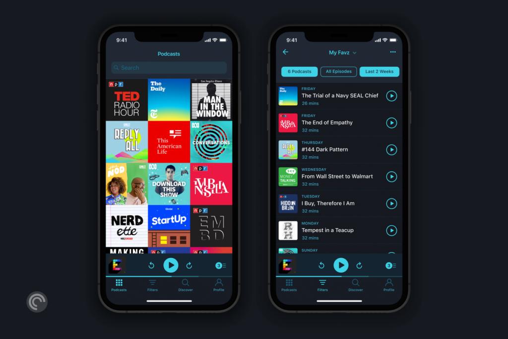 Pocket casts vem se tornando um dos aplicativos mais populares no genero de podcasts