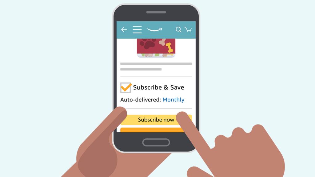 Subscribe & Save é um serviço por assinatura de itens domésticos da Amazon