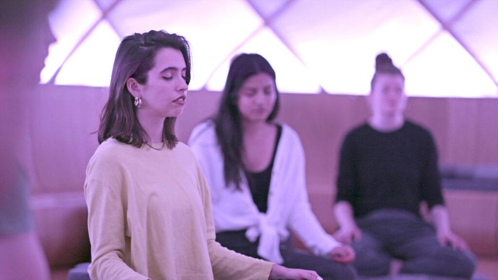Explicando a mente netflix meditação