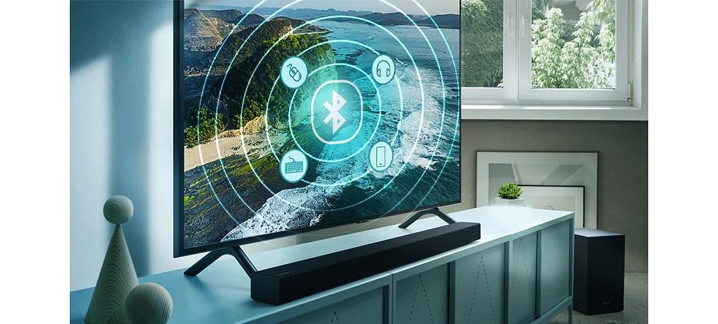 Dá pra conectar facilmente fones de ouvido, teclados, soundbar e outros equipamentos via Bluetooth