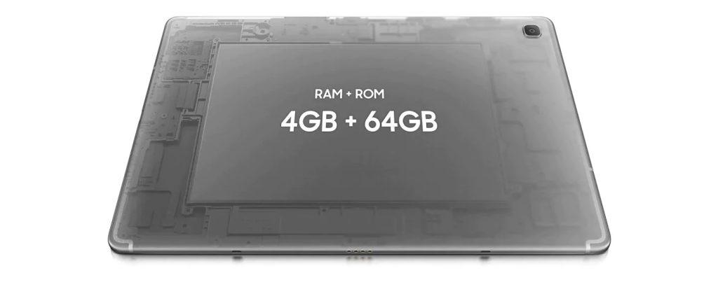 O samsung galaxy tab s5e possui 4 gb de memória ram e processador octa-core