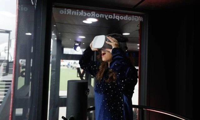 Transmissão em Realidade virtual poderá ser vista no estande da Globo no Rock in Rio (Imagem: Reprodução/O Globo)