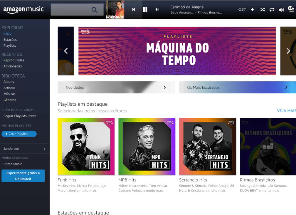 Prime Music já tem playlist brasileiras