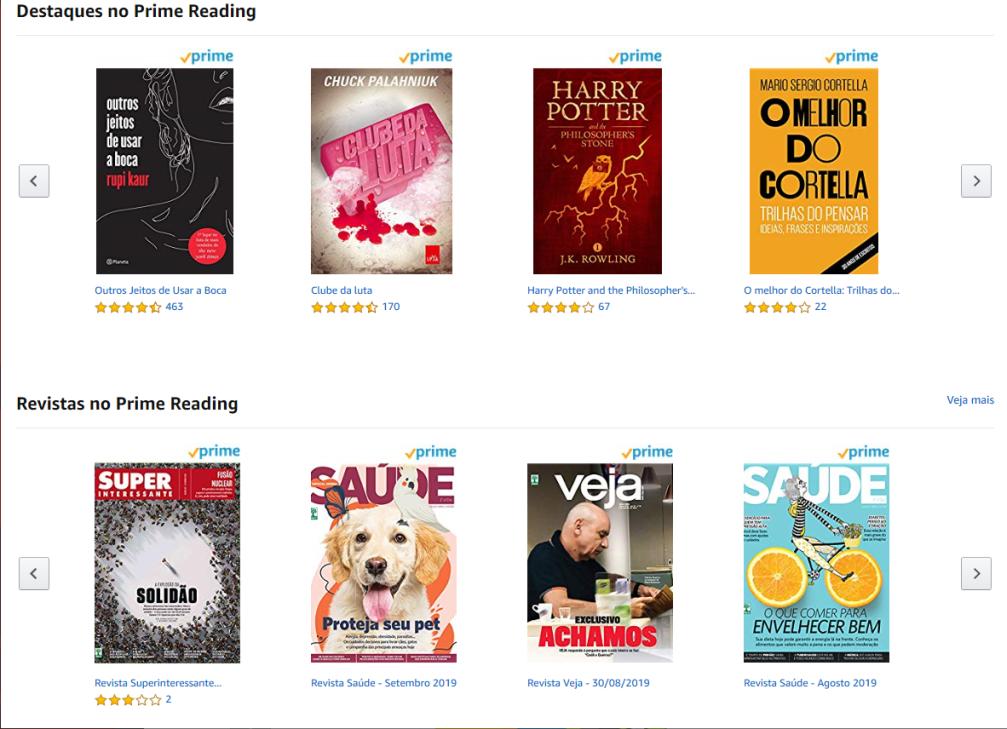 Prime Reading tem revistas da Abril no catálogo