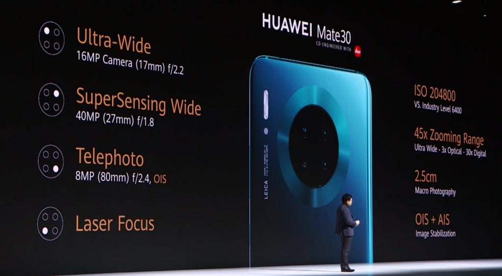 As câmeras tem o sensor mais potente já lançado em um smartphone. de 40MP