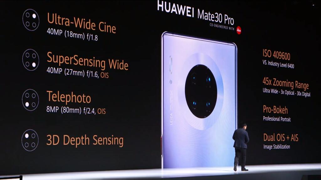 o Huawei Mate 30 pro é o primeiro smartphone do mundo com um sensor dedicado para vídeos