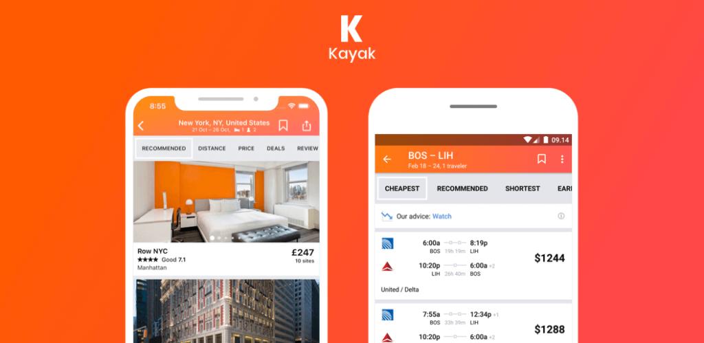 Kayak é perfeito para aqueles que desejam verificar todos os aspectos da viagem