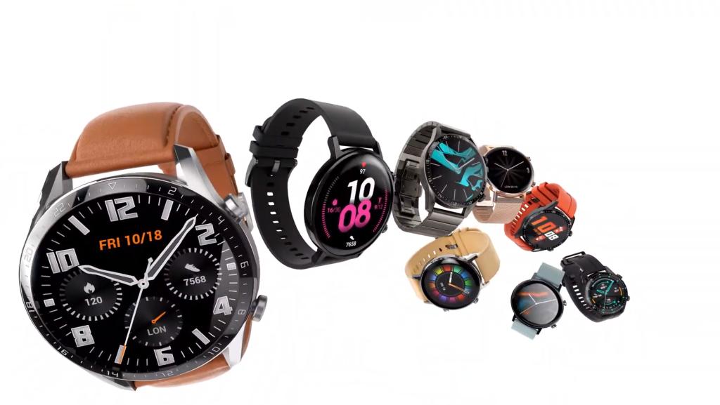 O watch gt 2 maior traz um design elegante e é construído em vidro único 3d, possuindo bordas mínimas