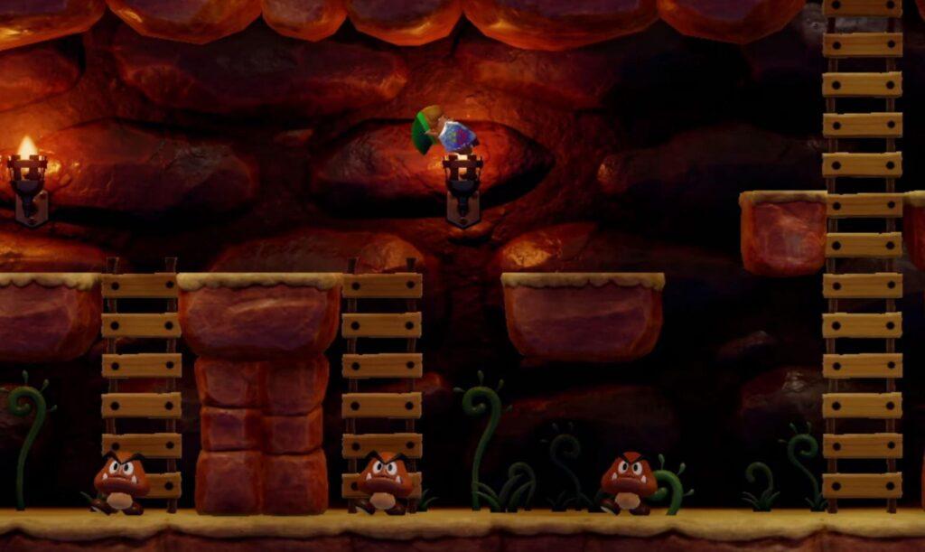 Goombas e outros personagens da série Mario fazem aparições especiais no game