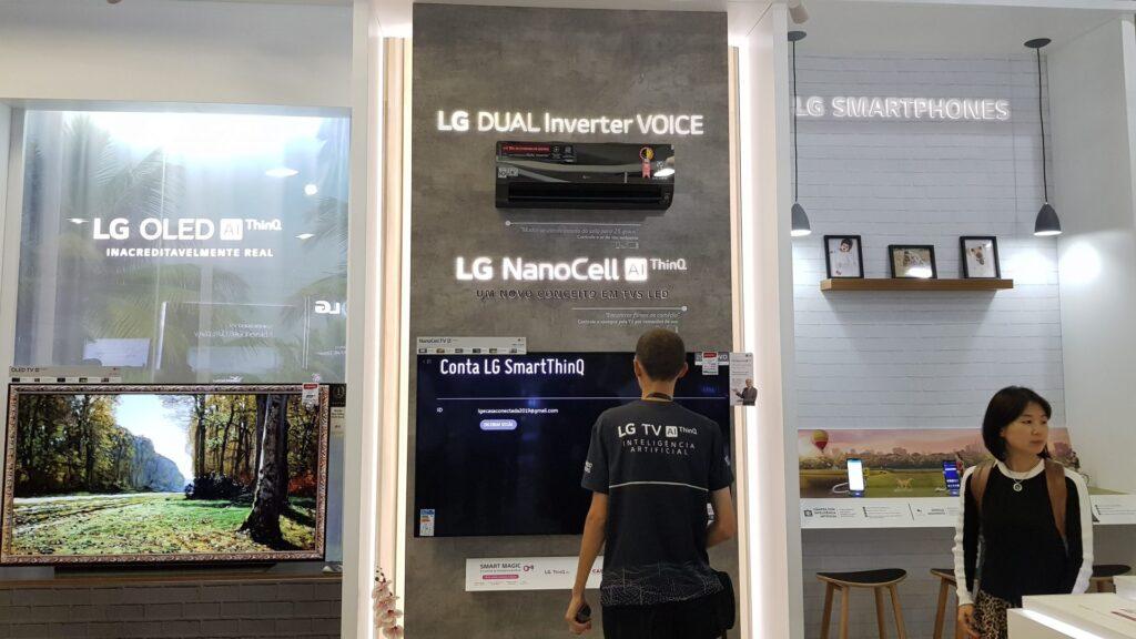 Produtos da casa conectada da LG