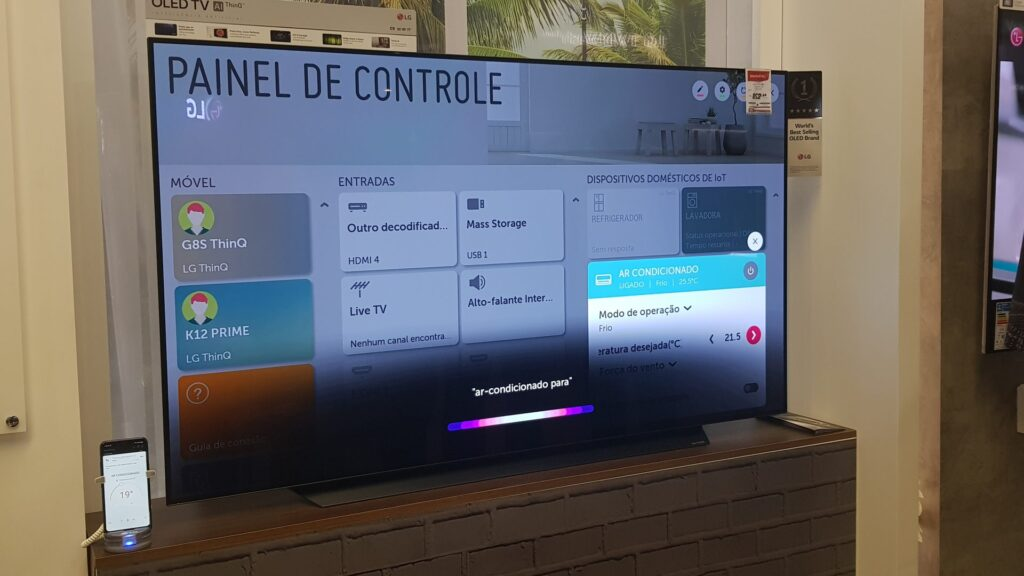 Smart TV ThinQ AI da Casa Conectada da LG