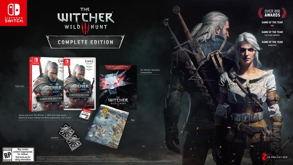 A versão do game lançada para o Switch contém os mesmos conteúdos extras que a versão de lançamento
