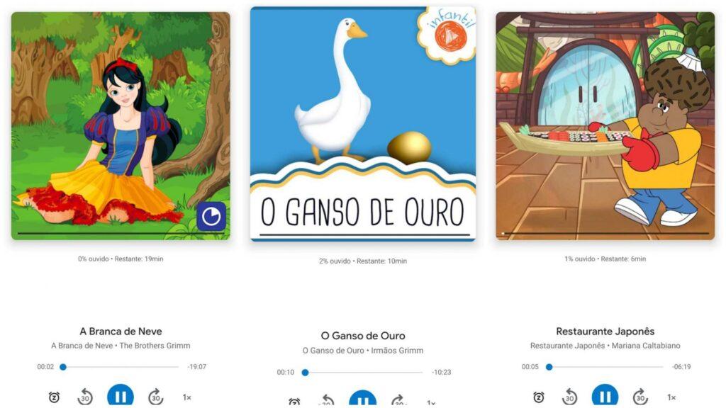 smartphones com Google Play Livros e Google Assistente atualizados podem pedir para contar histórias