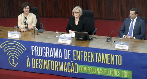 Lançamento do programa de enfrentamento à desinformação com foco nas eleições 2020
