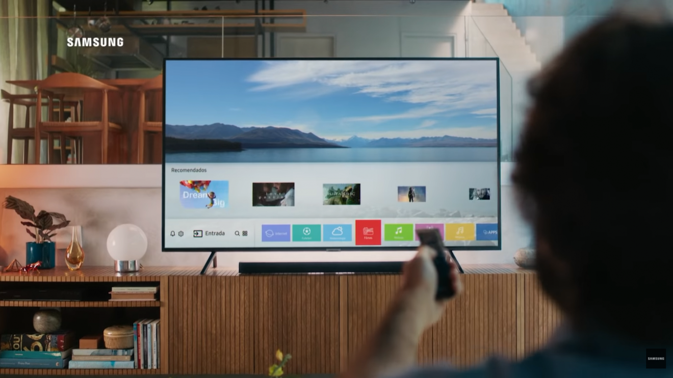 Smart Tv 4K Samsung com Tizen