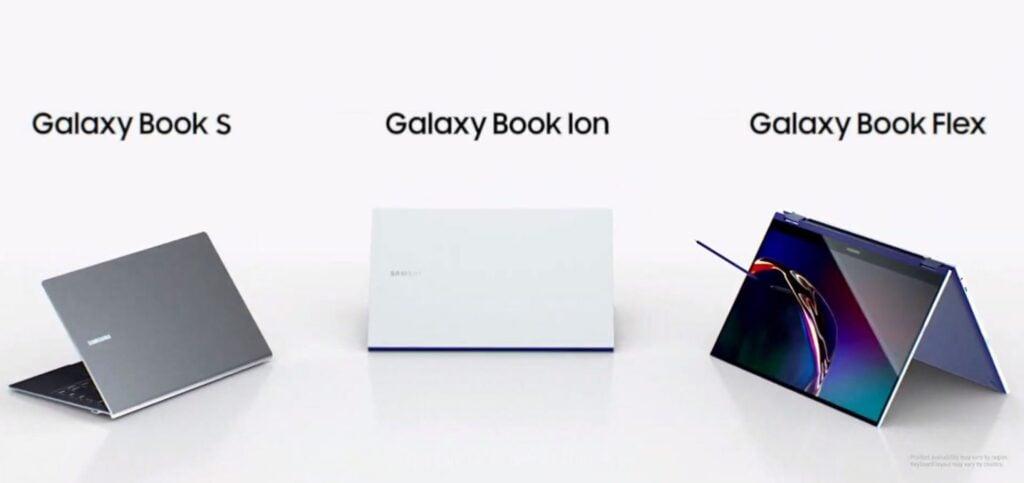 Samsung galaxy book s, ion e flex são os novos laptops da samsung