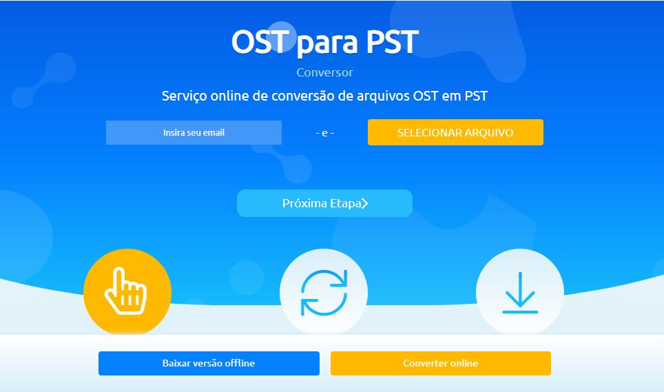 O serviço ainda está disponível online para converter arquivos OST