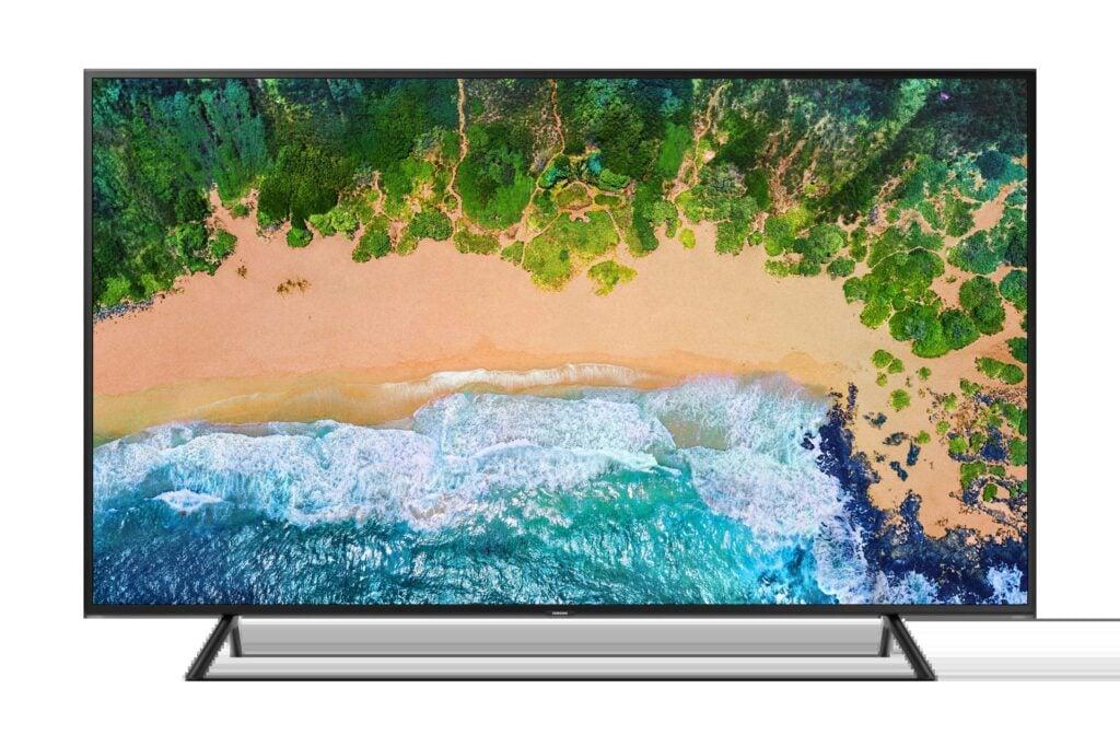 TV de entrada RU7100 da Samsung