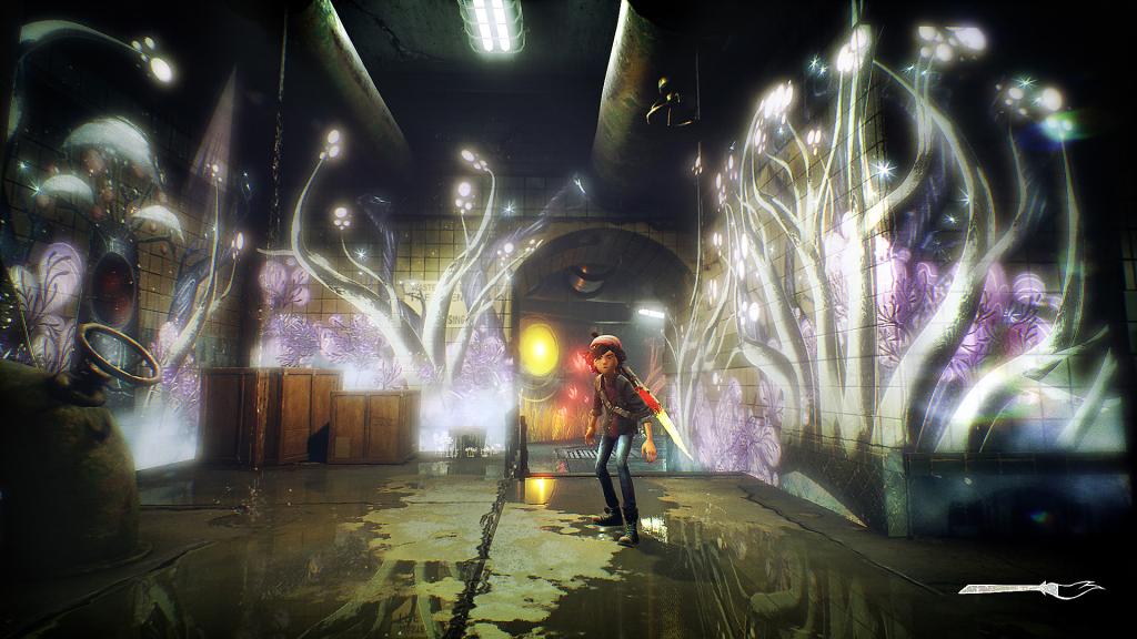 O pincel mágico de Ash não serve apenas para dar vida à cidade mas também para protegê-lo de perigos