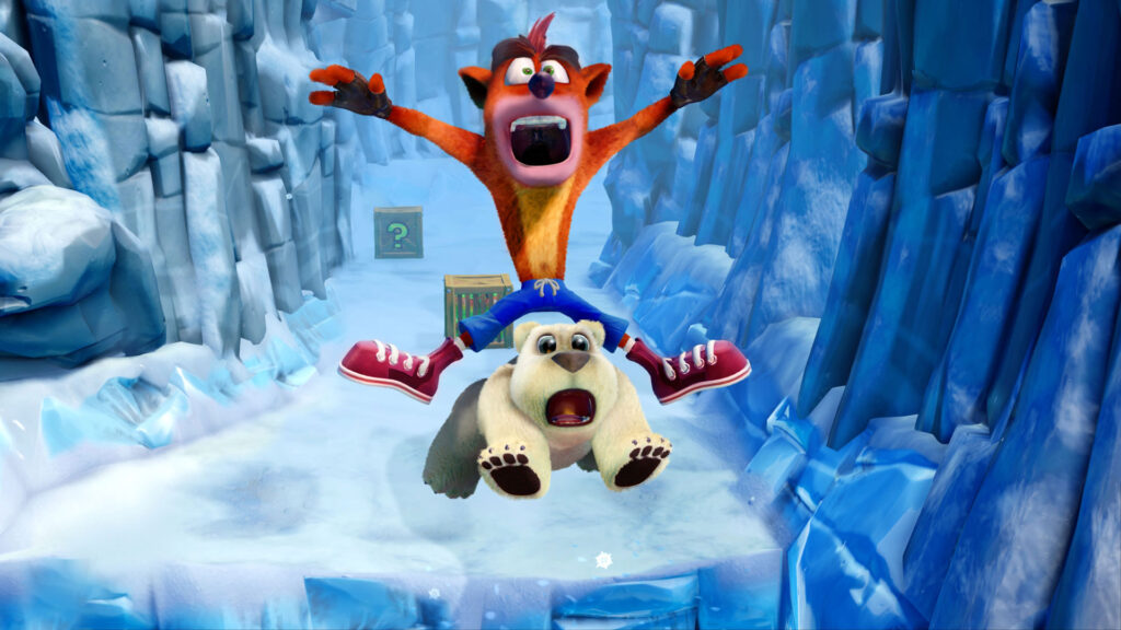 O bundle inclui os games Crash Bandicoot - Crash Bandicoot 2: Cortex Strikes Back - Crash Bandicoot: Warped da franquia do Marsupial