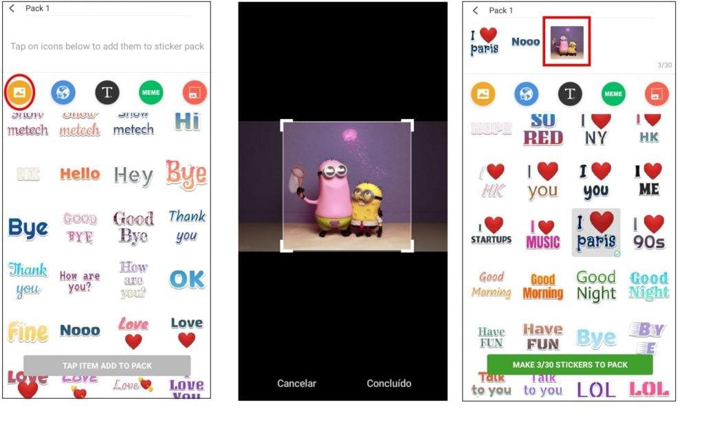 Textsticker figurinhas com texto para whatsapp