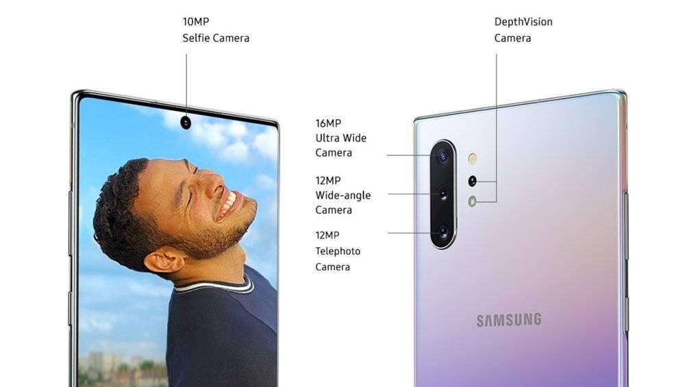 Câmeras do Galaxy Note 10 Plus