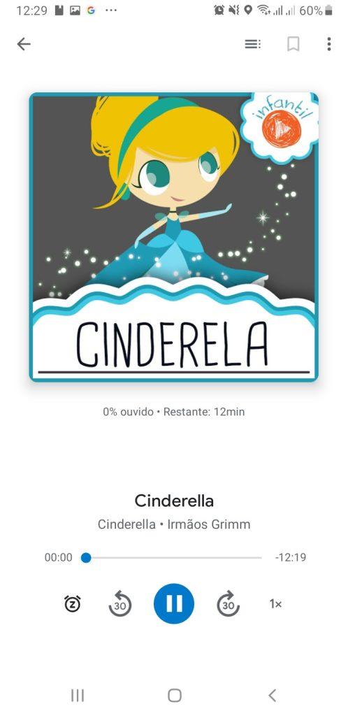 App aberto do Google Play Livros