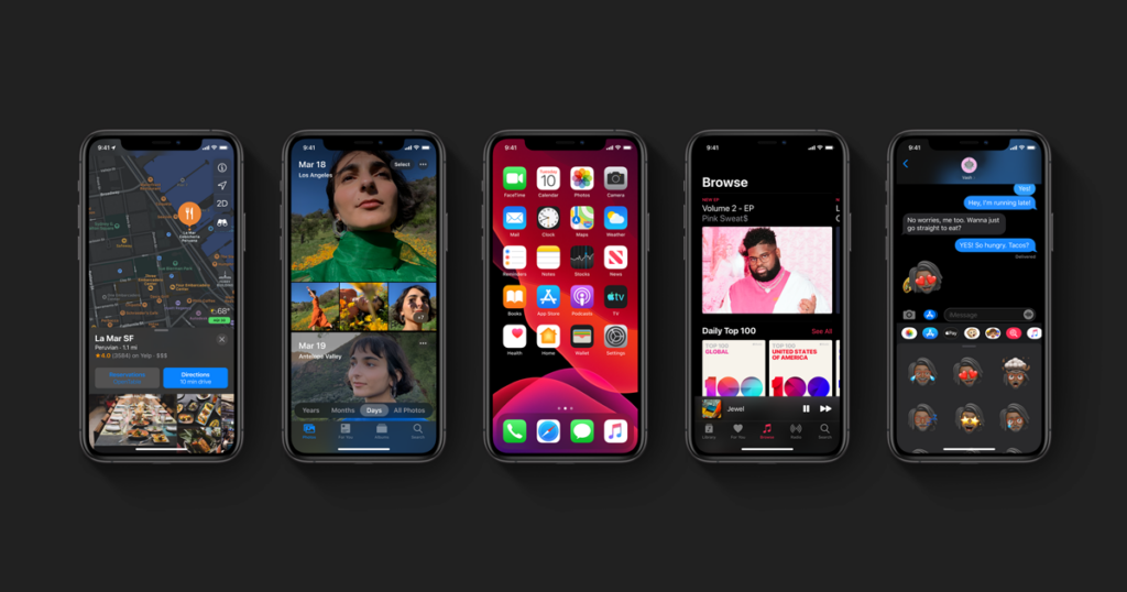iOS 13 contempla iPhones e iPod Touches