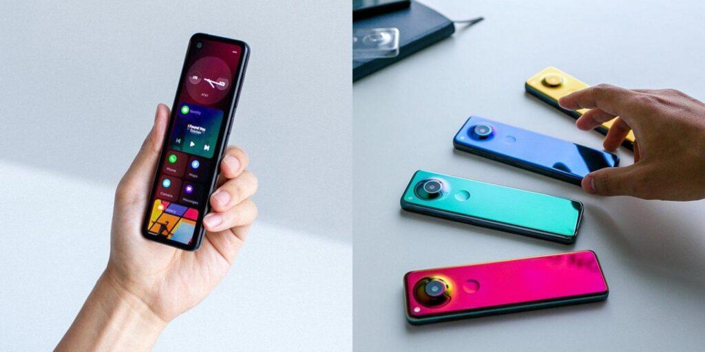 Novo smartphone essential project gem lembra um controle remoto e interface remete ao windows phone